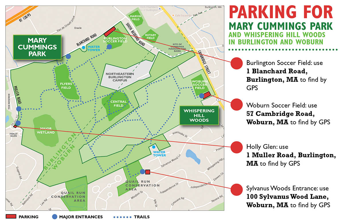 Mary Cummings Parking Map