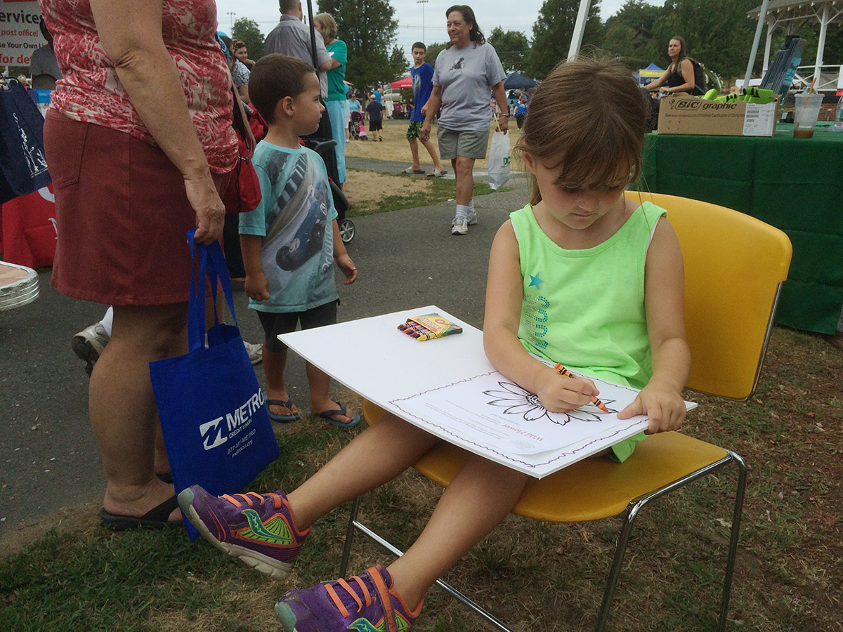 Coloring Corner for Mary Cummings Park at Burlington Town Day