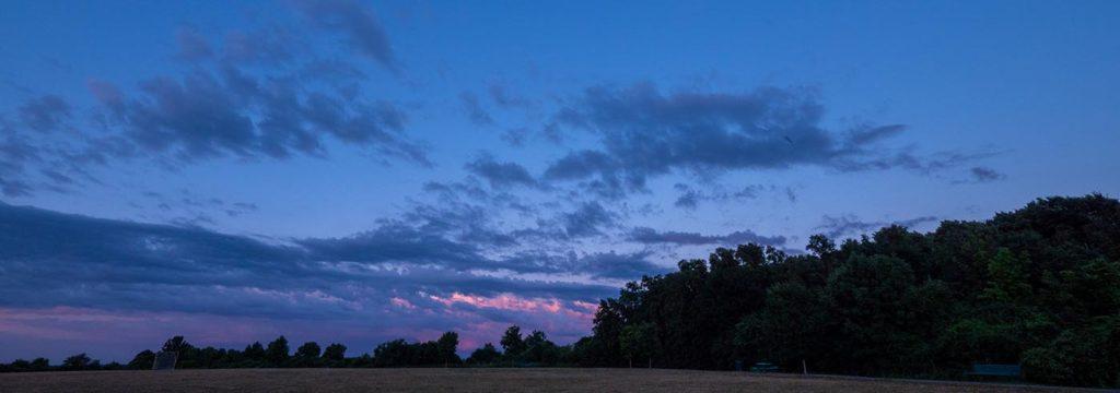 sunset facing east